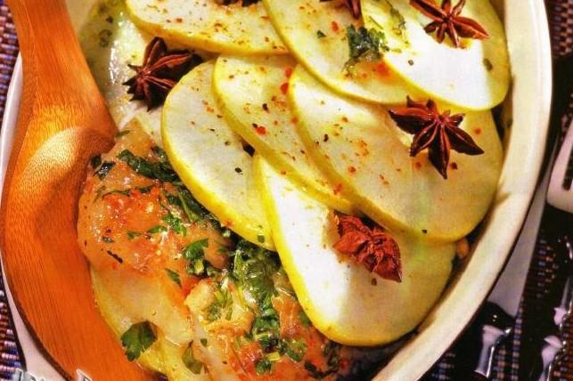 Рыба с яблоками приготовить