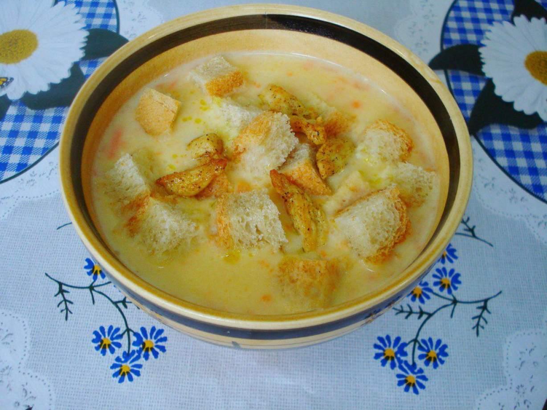 Сырный суп пюре с курицей пошагово