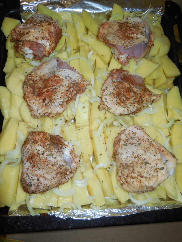 Рецепт пошагово бедра курицы в духовке с