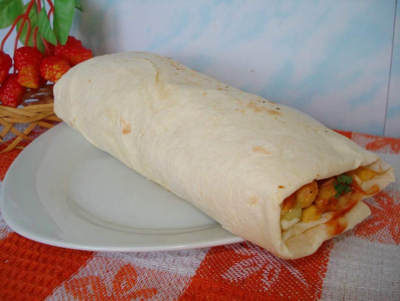 Лаваш с курицей в домашних условиях рецепт пошагово с