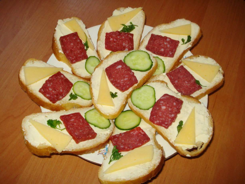 Бутерброды на праздничный стол фото рецепт пошаговый