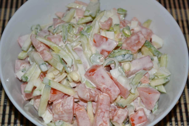 Летние диетические салаты с