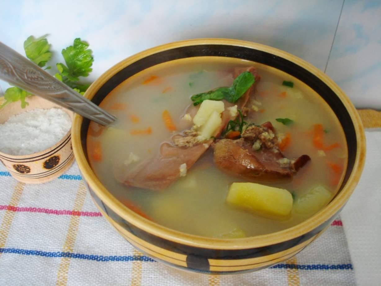 Суп из гусиных потрохов рецепт пошагово