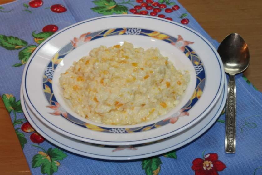 Рецепт каши рисовой с тыквой на молоке рецепт